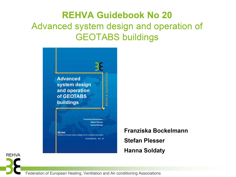 REHVA Guidebook No.20 presentation pic