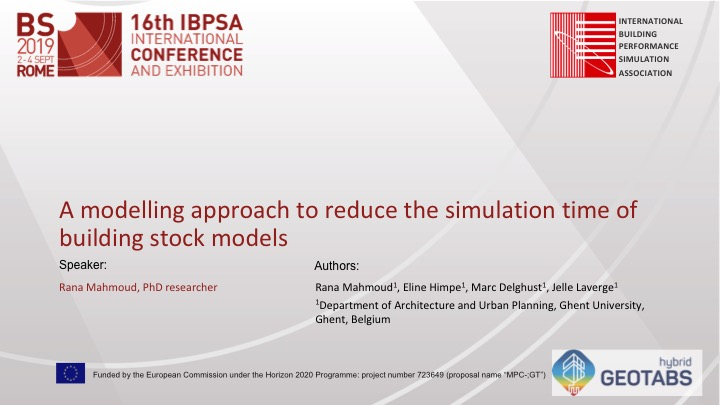 A modelling approach to reduce simulation in building stock data front page