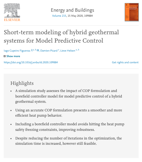 Short term modelling hG for MPC