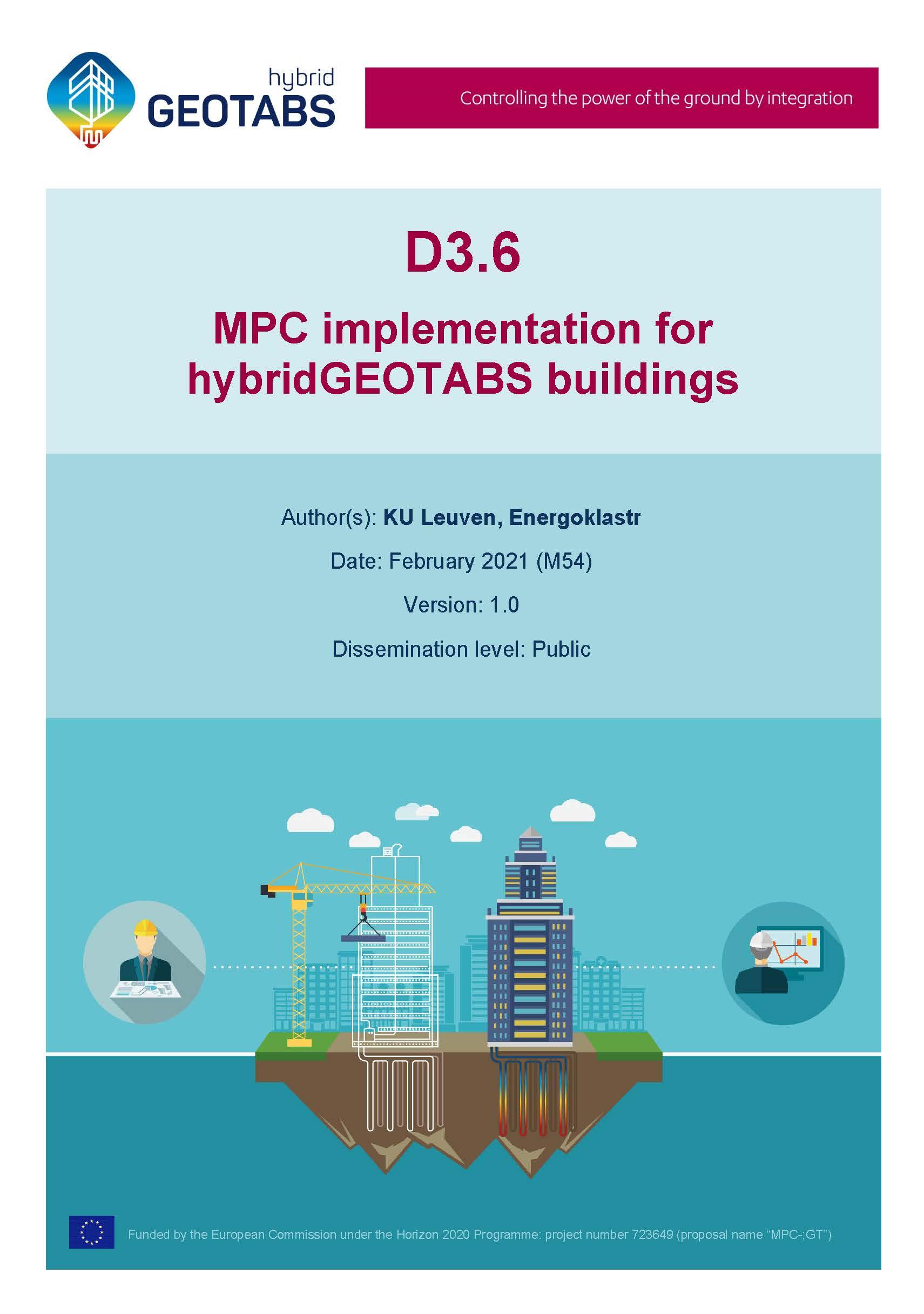 D3.6 MPC implementation for hybridGEOTABS buildings